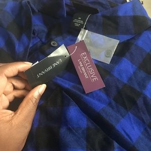 Blue and black plaid dress from lane Bryant